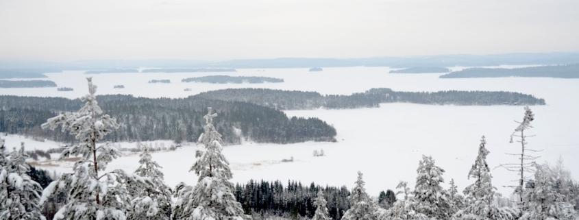 Talvimaisema Oravivuorelta Päijänteelle
