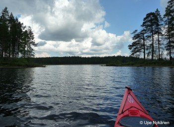 Kajakilla Suomunjärvellä, Patvinsuon kansallispuisto