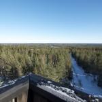 Näkymä Kiiskilänmäen näkötornista talvella, Multia