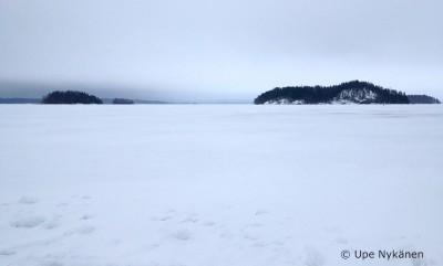 Haukiveden talvimaisemaa