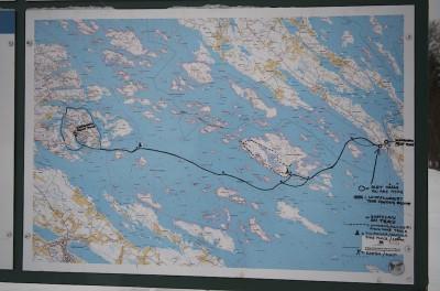 Haukivesi, retkiluistelureitin kartta