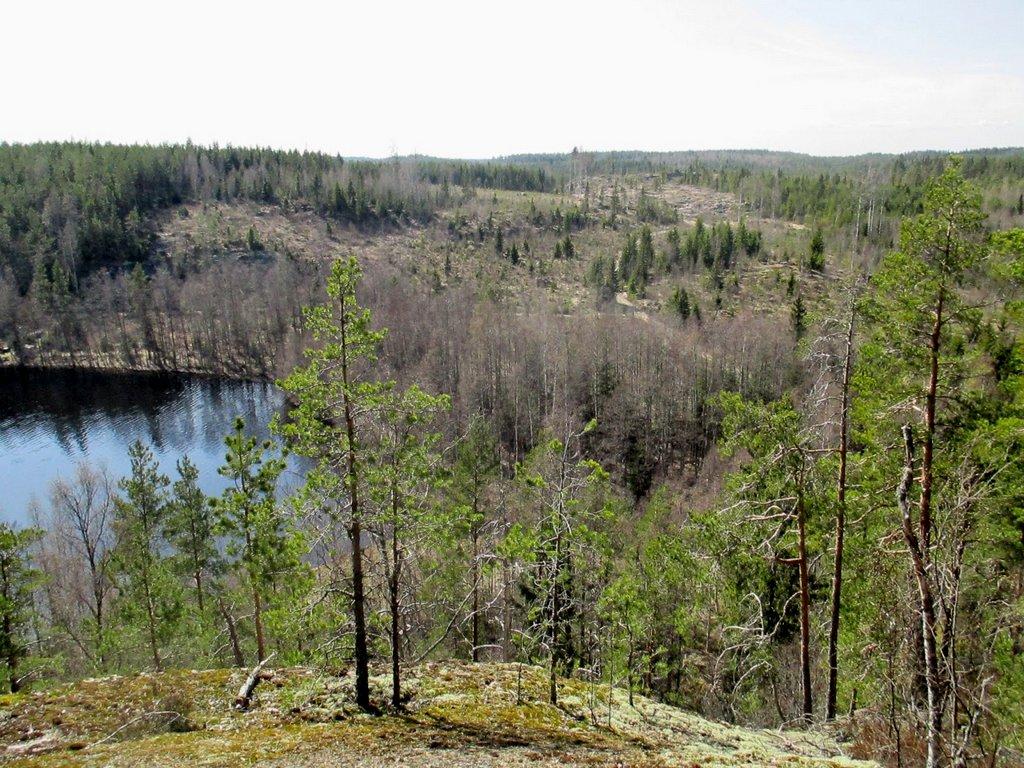 Huipulta näkyy Latvajärvi ja paljon muutakin....