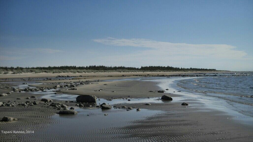 Mäntyniemmen hiekkaranta laskuveden aikaan