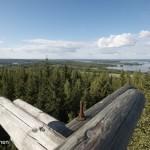 Maisema Väisälänmäen näkötornilta, Lapinlahti