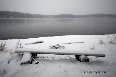 Luminen penkki Lammassaaressa
