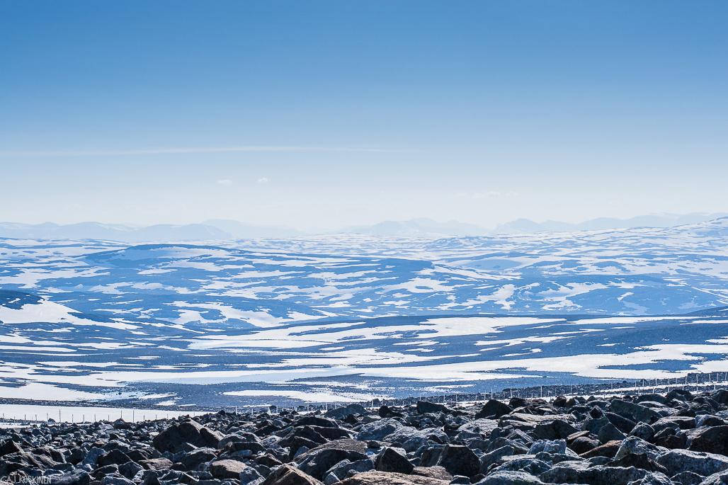 Näkymää Norjan puolelle.