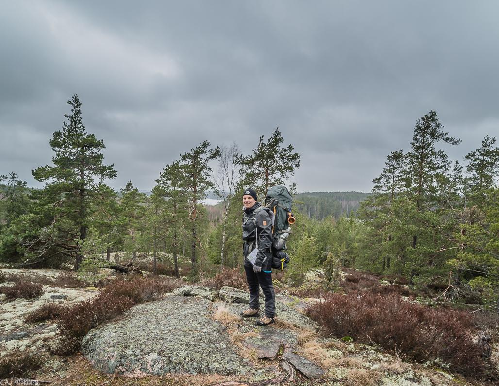 Sahajärven etelänpuoleinen näköalapaikka.