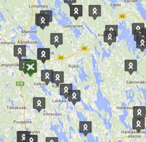 Kartta 1 Retkipaikka