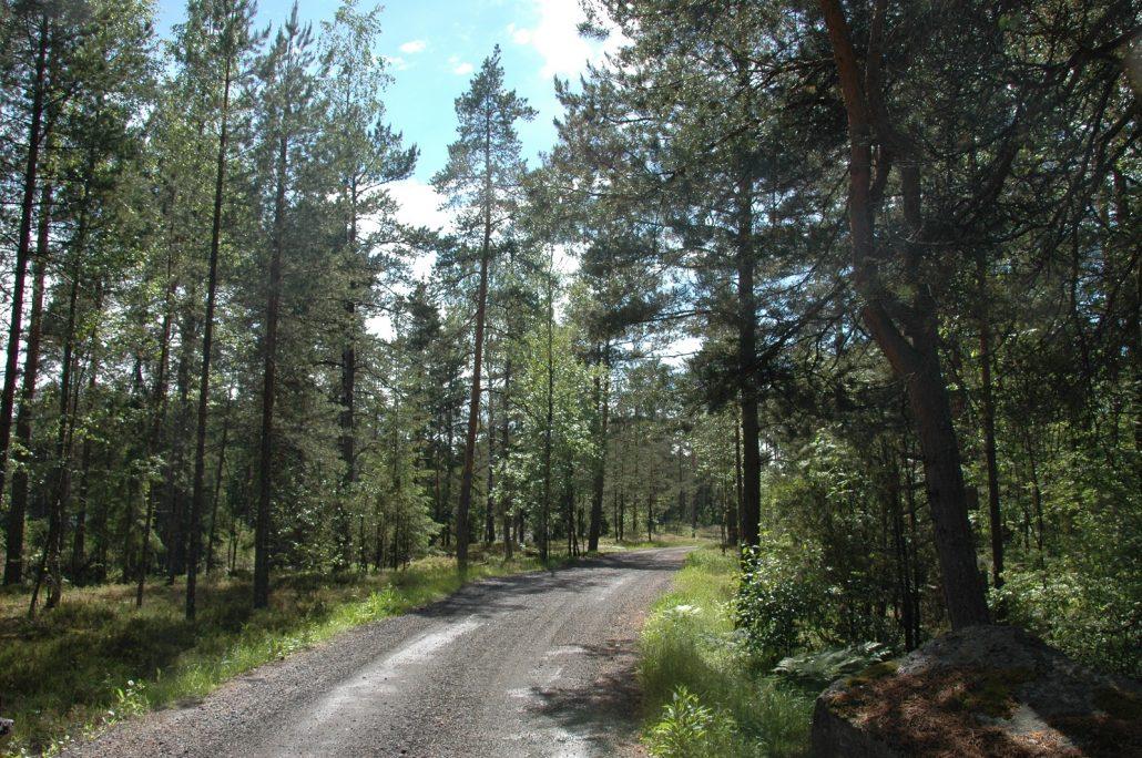 Parkkialueelta Högbergetille (2)