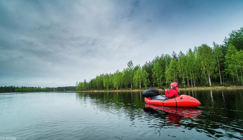 Ruunaanjärven yläjuoksu oli upeaa erämaista aluetta.