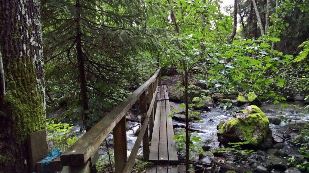 Ylityksiä varten on muutama silta.