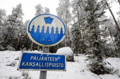 Päijänteen kansallispuiston kyltti