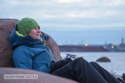 Aamukahvilla Lauttasaaressa Kuva: Tom Toivonen