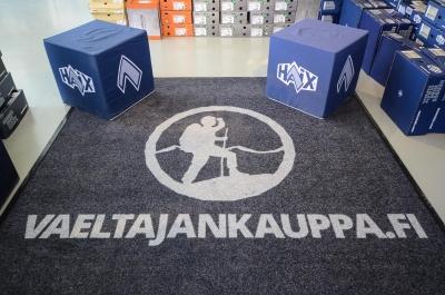 Vaeltajankaupan logo. Kuva: Upe Nykänen