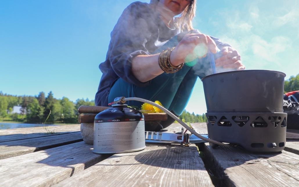 Kaasukeittimen käyttö ja huolto Kuva Minna Jakosuo